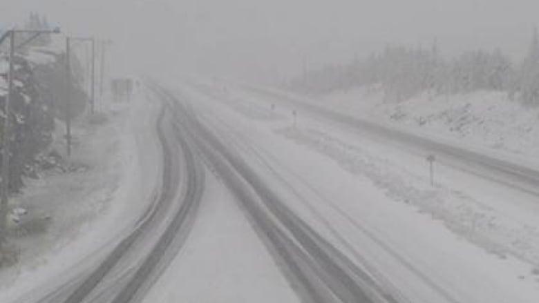 Thunder snow' warning after snowfall blankets parts of B C