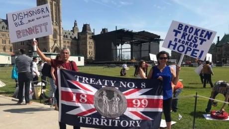 Athabasca Denesuline demonstrators