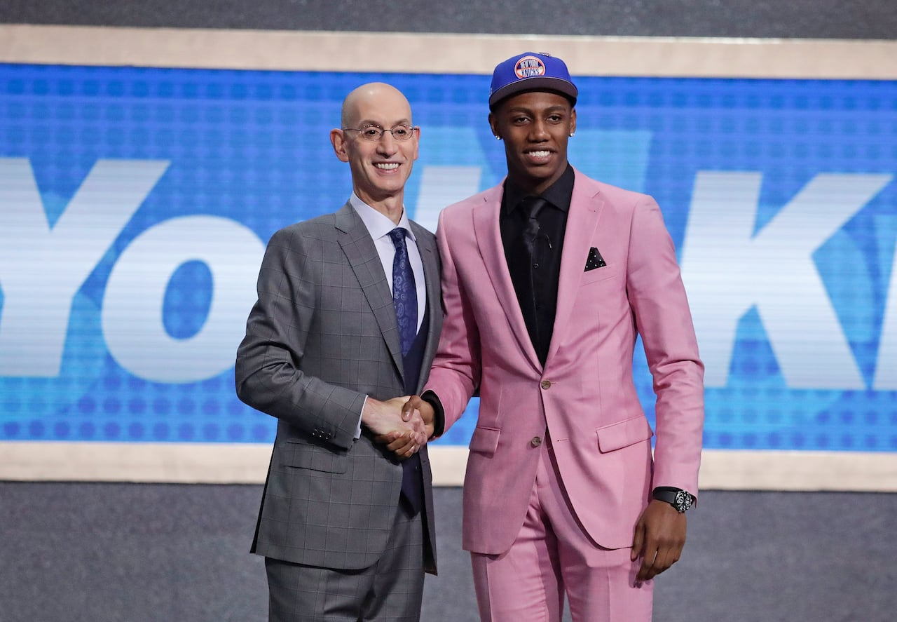 on sale 9fa55 d1636 Canada s RJ Barrett chosen 3rd overall by Knicks as part of record-setting  night