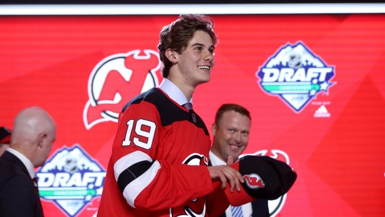 sale retailer 667e7 8ceed American Jack Hughes taken 1st overall by New Jersey Devils ...
