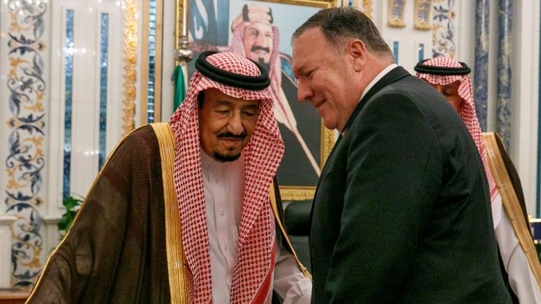 Pompeo arrives in Saudi Arabia as Iran threatens U.S. drones