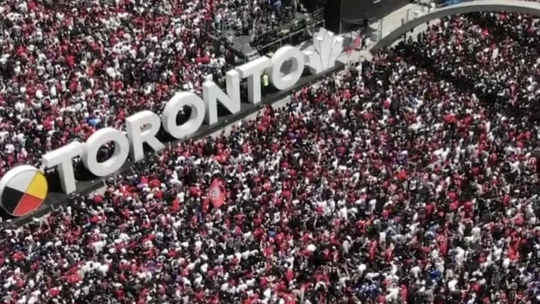 Someone just got fined almost $3K for flying a drone over Toronto's Raptors celebrations
