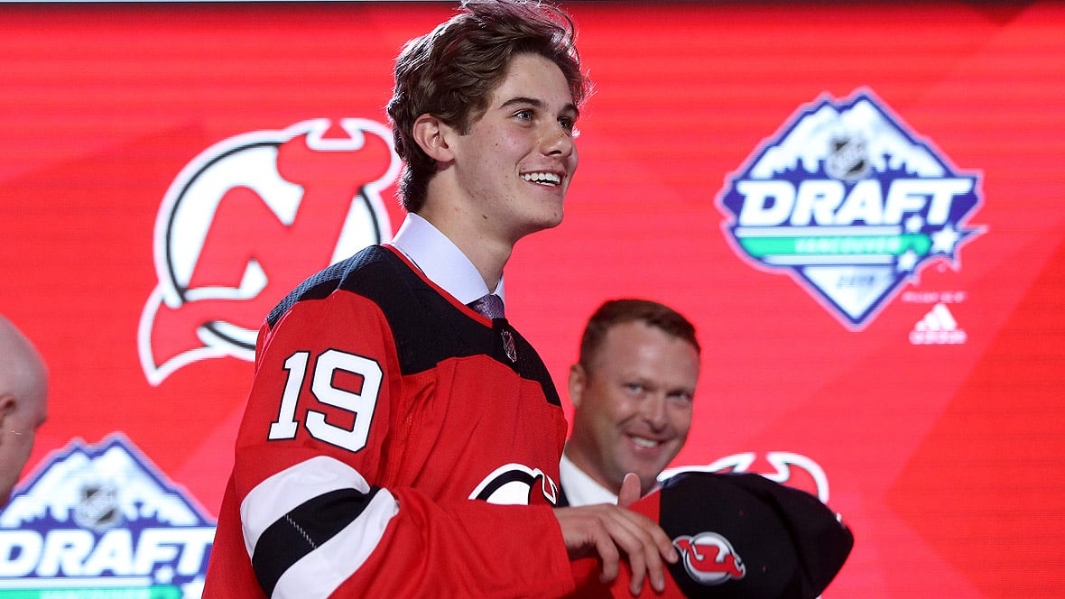 I want to be Jack Hughes': Top pick meets Devils media | CBC Sports