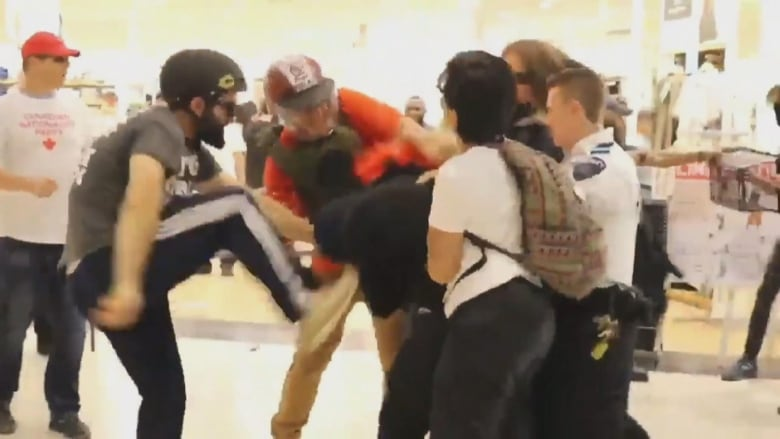 Police investigating violent clash inside Eaton Centre during Dyke March