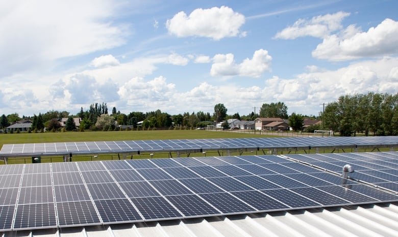 Solar Panels Installed On The Roof Of The Victoria Sports