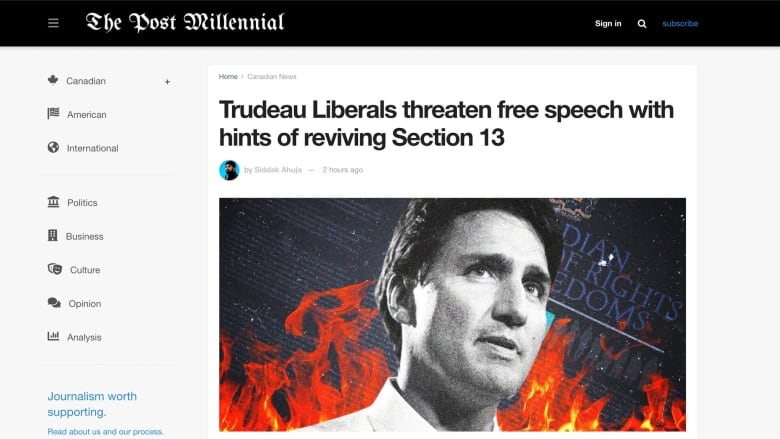 Canadian news site The Post Millennial blurs line between journalism and conservative 'pamphleteering'