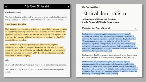 Canadian news site The Post Millennial blurs line between journalism