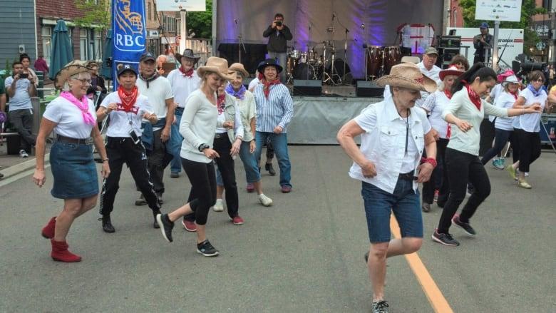'Those line dancers' spread their joy anywhere, anytime