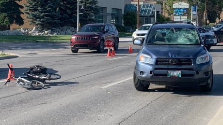 Cyclist hit by SUV