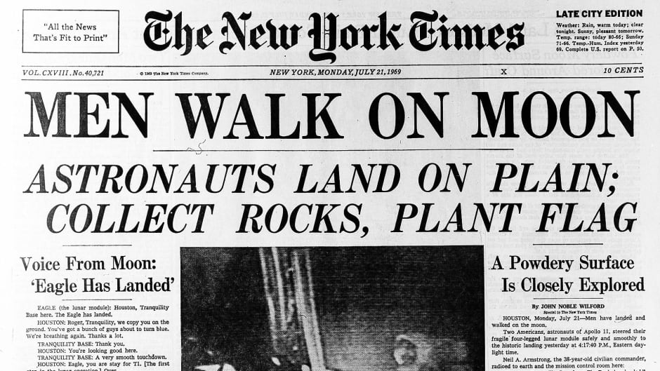 July 20, 1969: When the other news of the day revolved around the ...