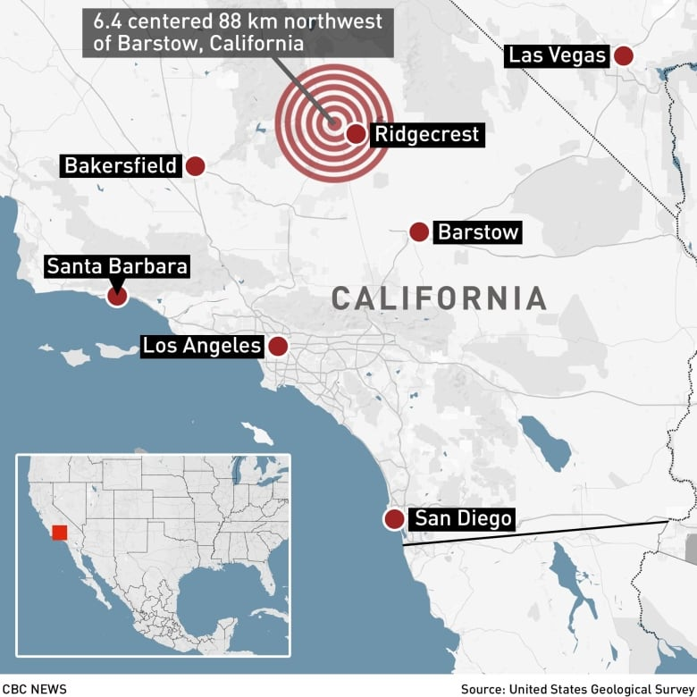 Southern California rocked by its strongest earthquake in 20 ... on southern california fault line map, ca drought map, ca landslides map, fairfield ca map, ca volcano map, ca universal studios map, ca road map, current california earthquakes map, ca fault line map, ca oil spill map, ca power outage map, ca freeway map, ca wildfires map, new madrid fault damage map, ca city map, ca regions map, ca fire map, ca airport map, southern baja california map, ca seismic zone map,