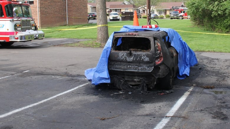 Mother who watched son burn to death in SUV fire joins calls