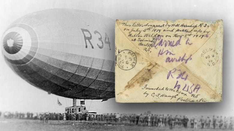 Letter dropped over N.S. on historic 1919 airship flight unearthed