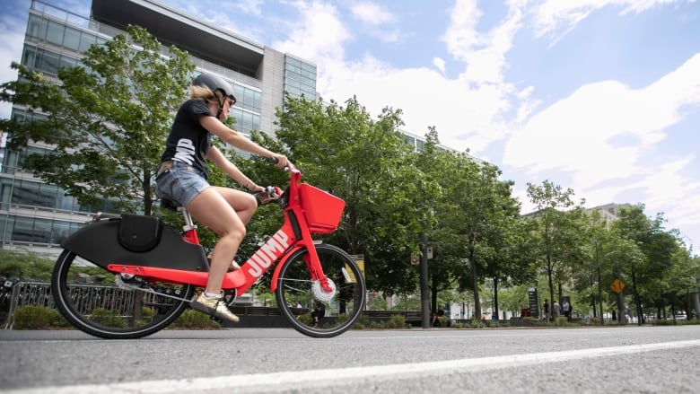 City of Montreal says Jump bike users can't just park