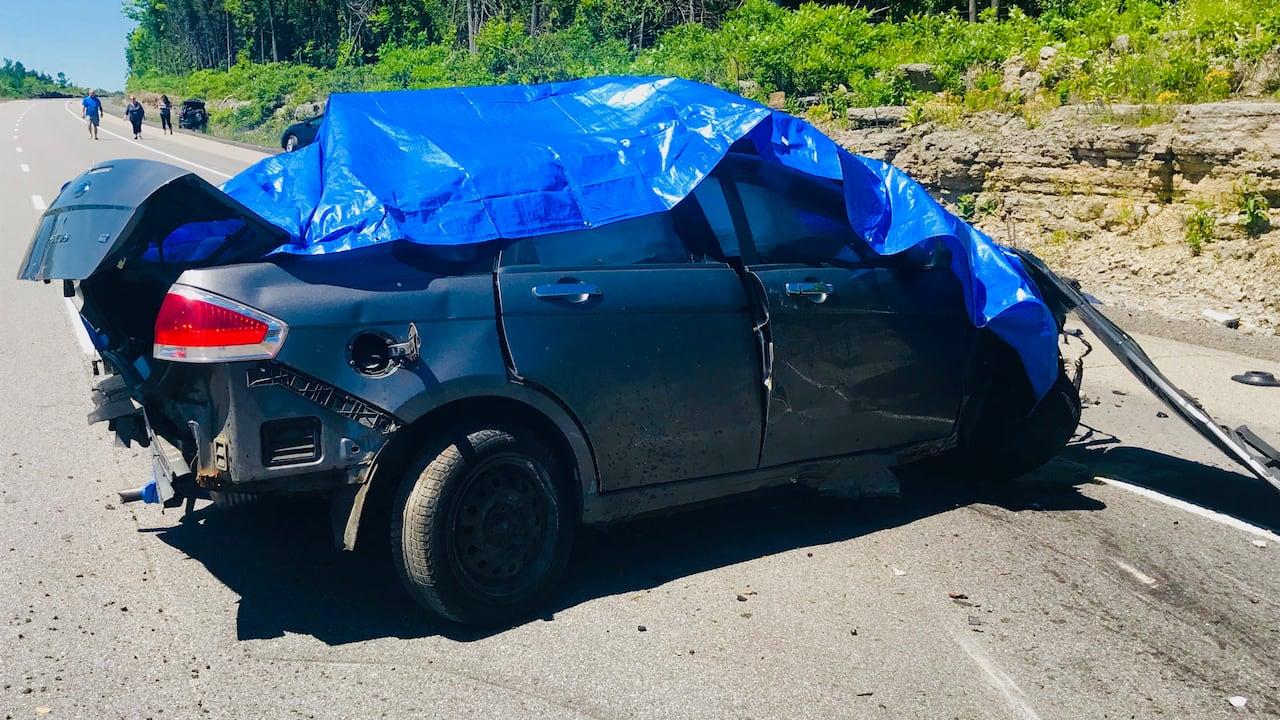 Witnesses describe highway horror | CBC News