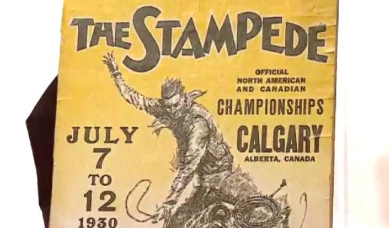 The Long Lost 1930 Calgary Stampede Poster Features