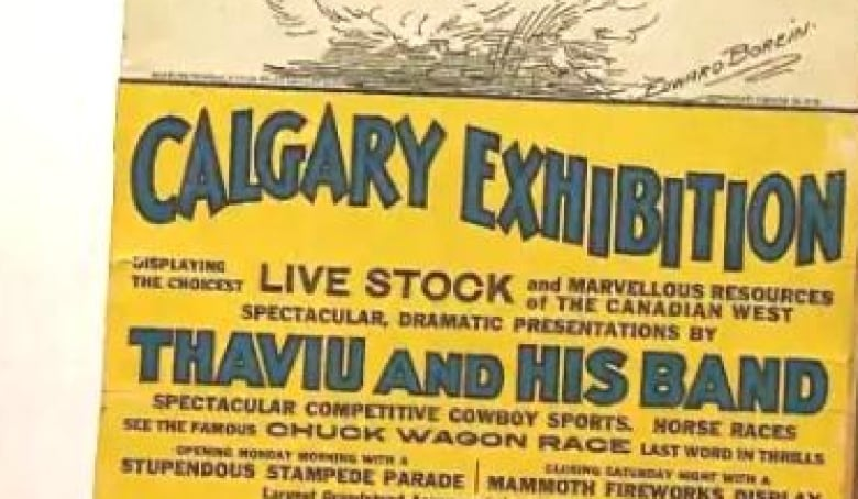 Calgary Stampede unveils long-missing 1930 poster | CBC News