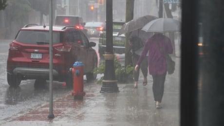 Rain, thunderstorm