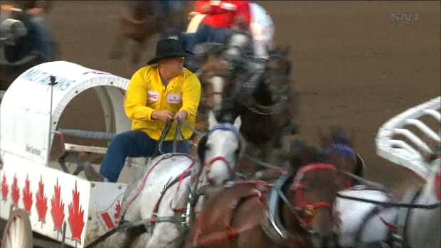 Driver fined $10K, disqualified after 3rd horse in Calgary Stampede chuckwagon races dies