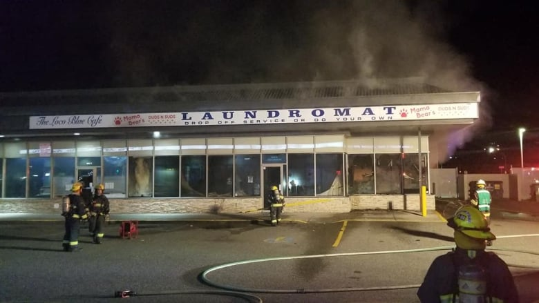 Fire blackens Mama Bear's laundromat, shatters windows and closes family business