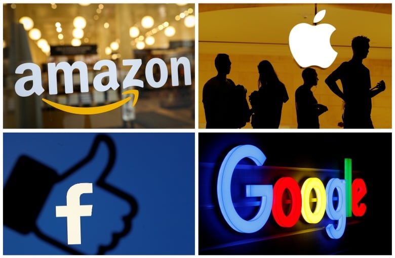 Tech giants face government scrutiny Tuesday on monopoly concerns, cryptocurrency plans