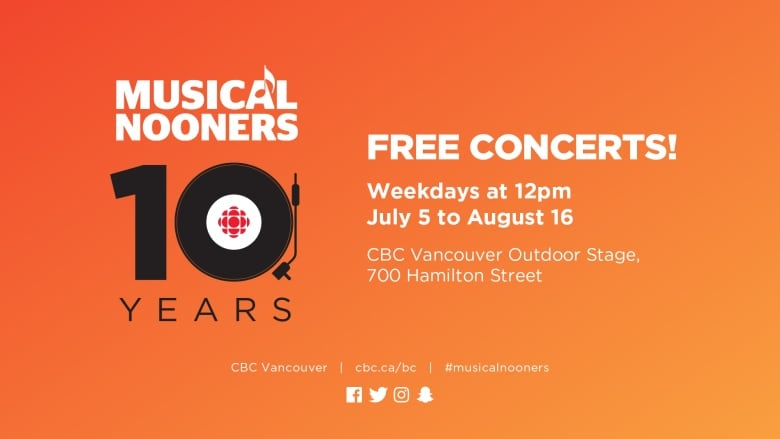 Celebrate 10 Years of Free Outdoor Concerts all Summer | CBC