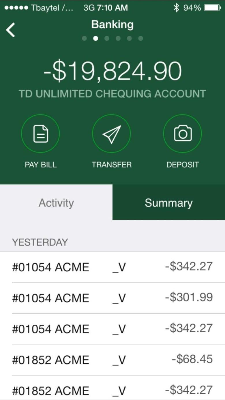 TD customers question how Visa Debit chequing accounts were