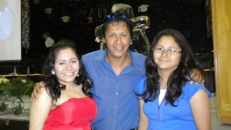Chenae Bear, Gordon Jebb, and his younger daughter Cassidy Bear