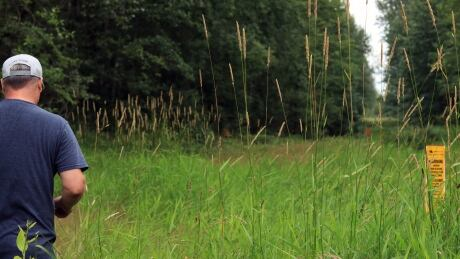 Robin Scory on his property