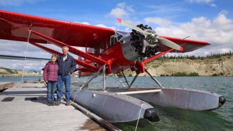 Warren and Carolyn Wright and the Bellanca