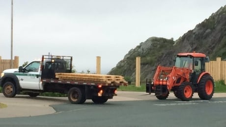 Demolition of Signal Hill fence