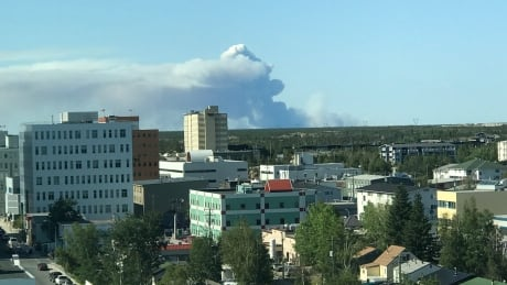 wildfire near Yellowknife