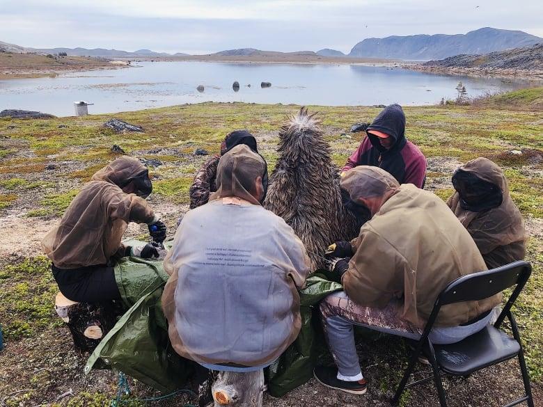 4c649d9f42cc1 Dene elders visit Nain to teach traditional moosehide techniques ...
