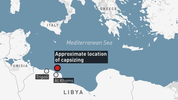 Over 110 migrants missing after boat capsizes in Mediterranean   CBC