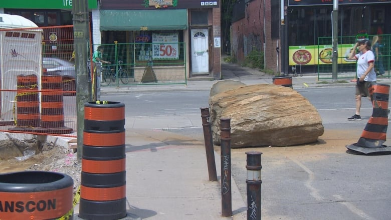 How did a boulder over a billion years old wind up on Toronto's Bloor Street?