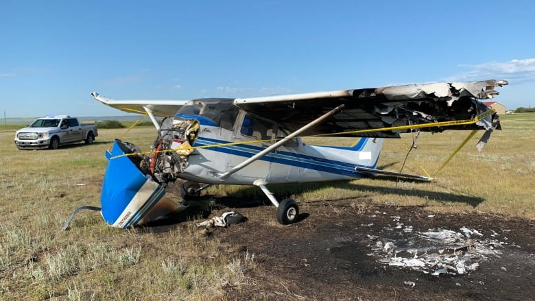 Pilot OK after small plane crashes at southern Alberta