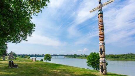 Totem Pole along River