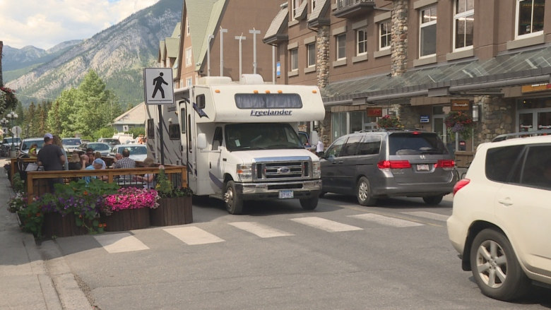 Headed to Banff on the long weekend? Be ready for heavy traffic
