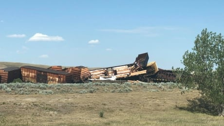 Train derailment Irvine Alberta