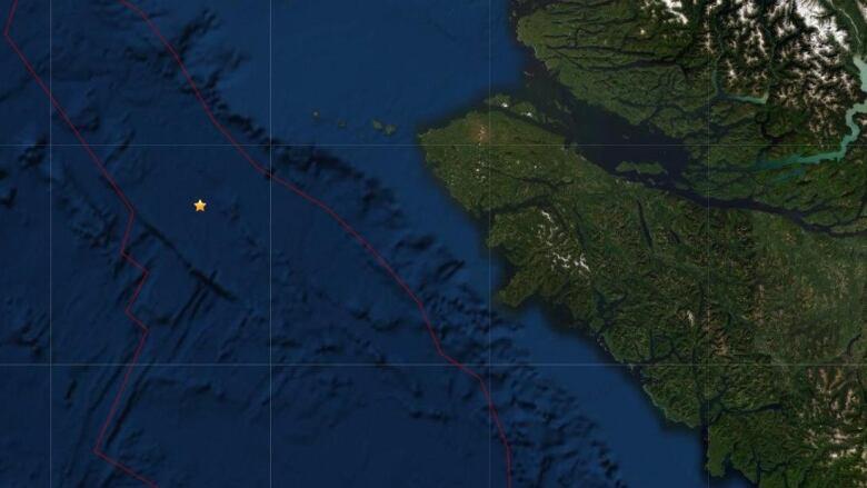 Magnitude-4.3 earthquake strikes off coast of Vancouver Island