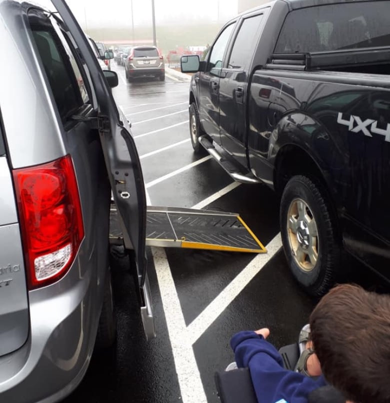 Maybe think twice' on blocking blue zone spots, mother says after