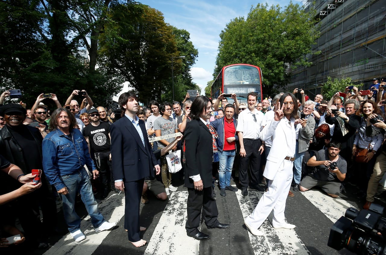 The Beatles Abbey Road Album Cover Photo Taken 50 Years Ago Today Cbc News