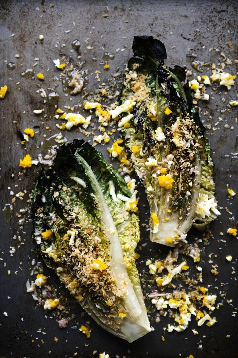 Throw your lettuce on the grill right now: This charred whole romaine Caesar is our salad of the summer