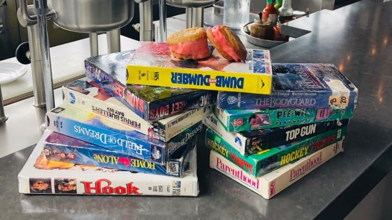 Just desserts: Why this B.C. restaurant uses VHS tapes as plates