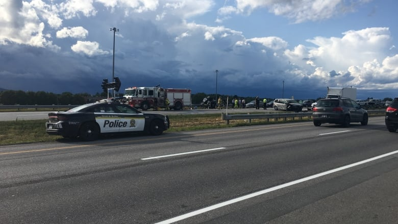 4 people taken to hospital after collision on Highway 50