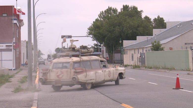 Ghost town: Alberta community transforms for Ghostbusters