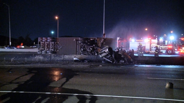 Police identify 2 killed in fiery Highway 401 crash in