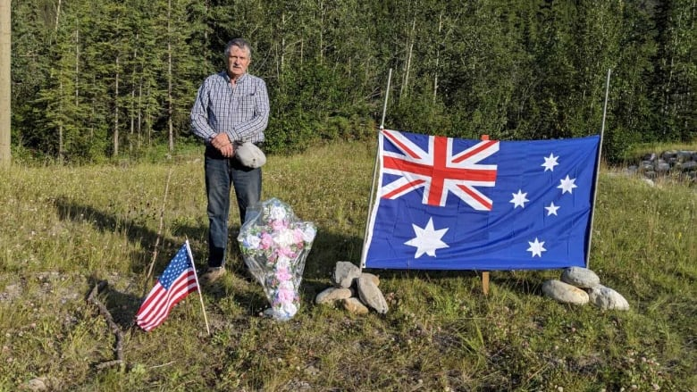 Trucker makes memorial for murdered couple on Alaska Highway