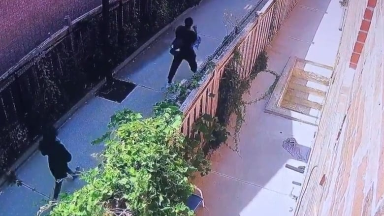 Fugitive seen arguing with woman moments before she was shot
