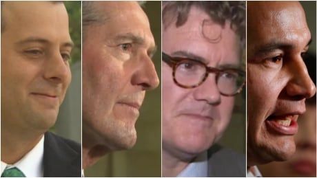 Collage of Manitoba political party leaders, election 2019